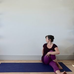 rebeccaallenyoga sitting twist